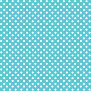 Light Blue + Polka White Dots