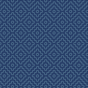 faux sashiko pluses on navy