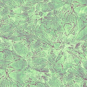 cracked ice in green and plum