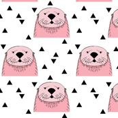 pink otters