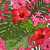 Needlepoint Tropical Floral