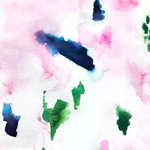 Abstract Watercolor Washout