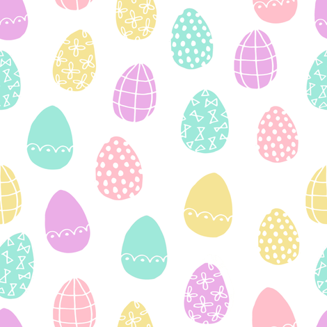 Easter Eggs Pastel Easter Egg Spring Fabric Pastels