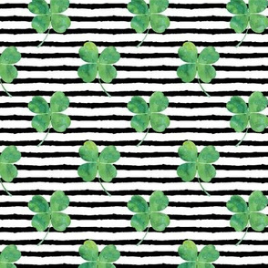 watercolor clover on stripes