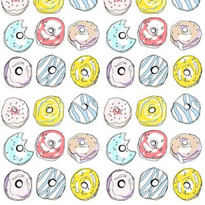 "Colorful Donuts 1"" x 1"""