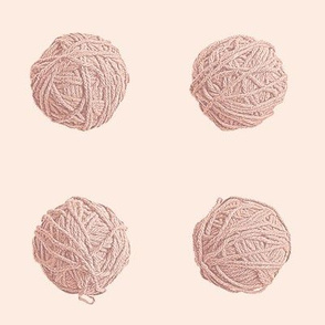 little yarn balls - terra cotta
