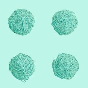 little yarn balls - surf teal