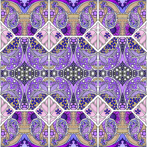 Cosmic purple worlds wallpaper edsel2084 spoonflower for Cosmic print fabric