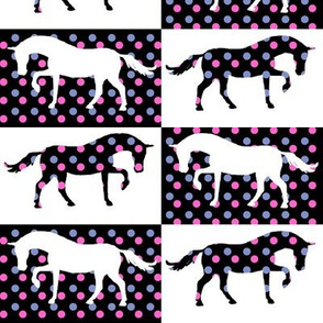 Pink and Blue Polka Dot Ponies