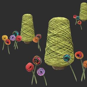 Yarn_tree_and_flowers