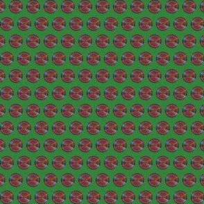 Plaid Dots on Hex Code #328438