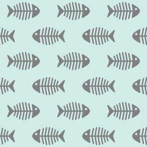 Grey Fishes on Aqua