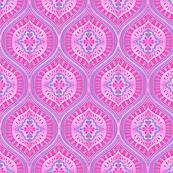 Boho ogee blossom neon pink radiance
