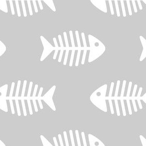 Large Fishes on Grey