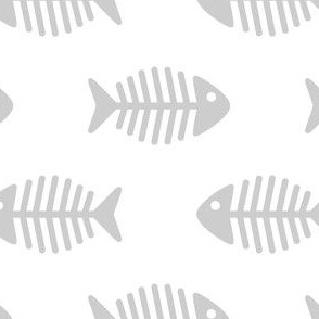 Large Grey Fishes on White