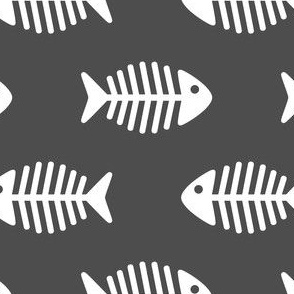 Large Fishes on Dark Grey