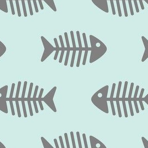 Large Grey Fishes on Aqua