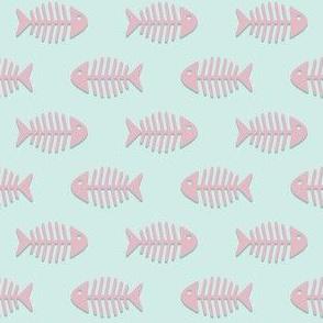 Pink Fishes on Aqua