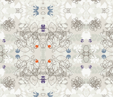 Minimalism winter fabric floramoon designs spoonflower for Material minimalism