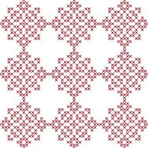 Redwork Geometric Design