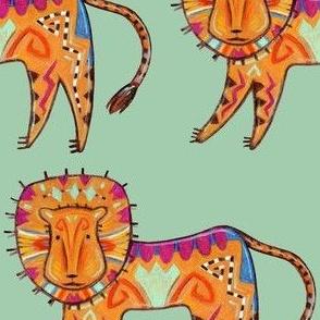 Curious  Friendly Leo Lion