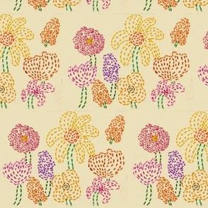 Embroidered Flower Garden