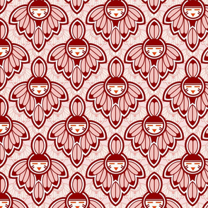 Earth Red Native motif