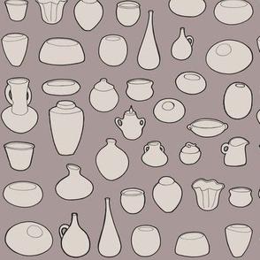 Clay Pots Brown