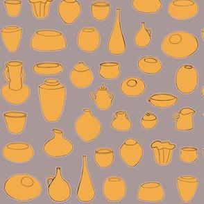 Clay Pots Retro Colours