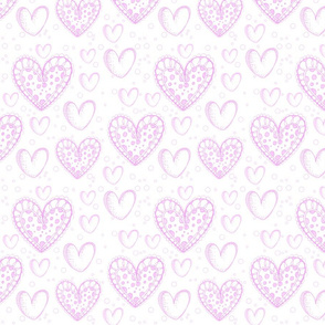 Pretty Hearts in Sickly Pink