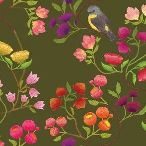 Embroidered Chinoiserie Forest