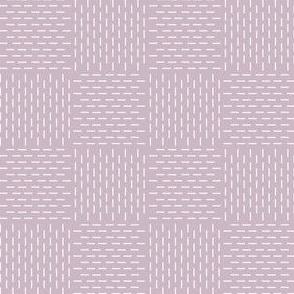 faux sashiko weave in lilac-mauve