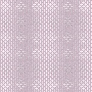 sashiko diamonds on mauve