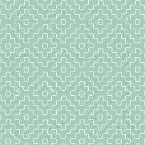 faux sashiko plus on mint green