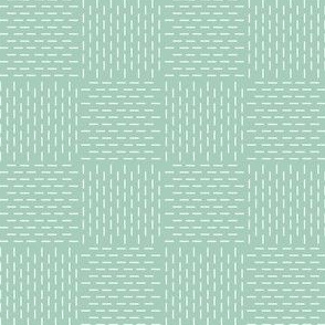 faux sashiko weave on mint green