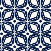 Starburst Midcentury Modern Geometric Navy Blue