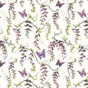 Wisteria Cross Stitch