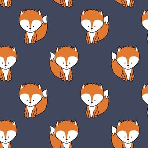baby fox || orange and dark blue