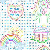 Home Sweet Home Needlepoint Rainbow Goddess