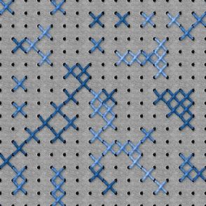 Giant Cross Stitch (Blue)