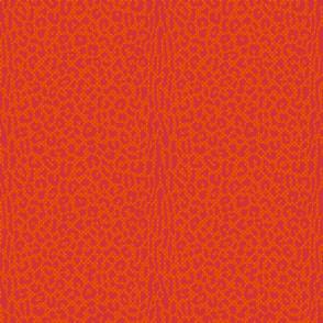 Orange and PinkLeopard Animal Skin