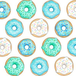 Iced Donuts - Blue