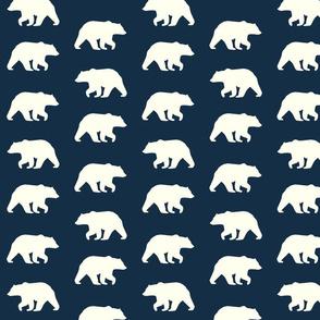 Bear Hike // Ivory bears on Mandy Navy