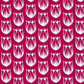 Doodle Tulip (White on Red)