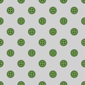 Button Dots Green on Gray (Fresh)