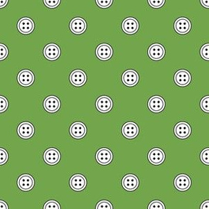 Button Dots White on Green (Fresh)
