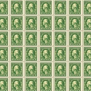 1912 George Washington one-cent green stamp sheet