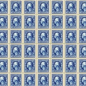 1908 George Washington blue 5-cent stamp sheet