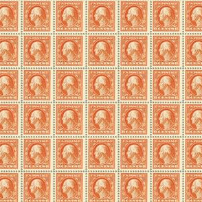 1908 George Washington 6-cent orange stamp sheet