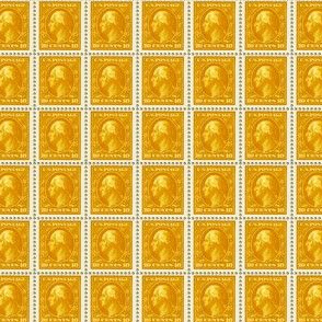 1908 George Washington 10-cent gold stamp sheet
